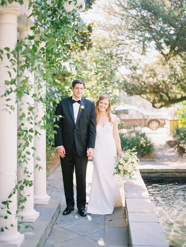 Classic Charleston wedding portraits at The William Aiken House by Catherine Ann Photography  //  A Lowcountry Wedding Magazine