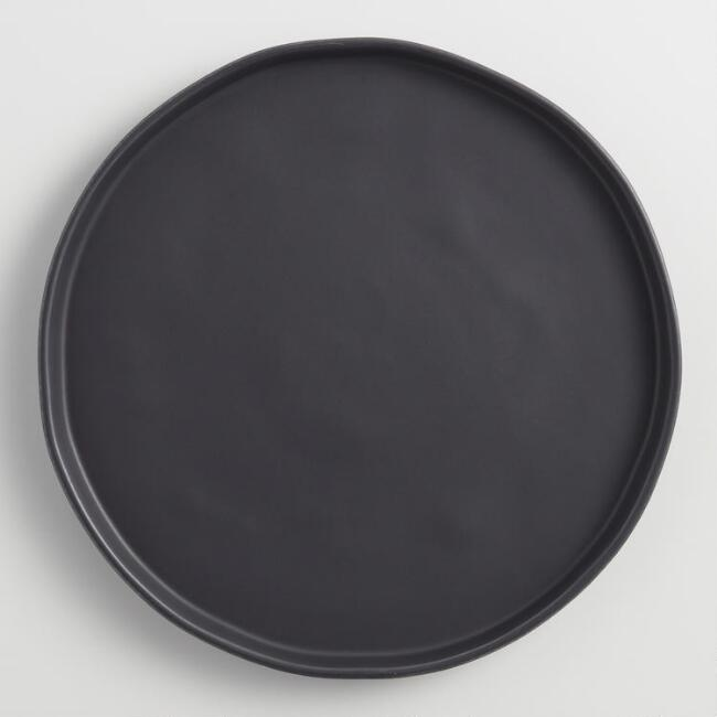Black Organice Rimmed Dinner Plates