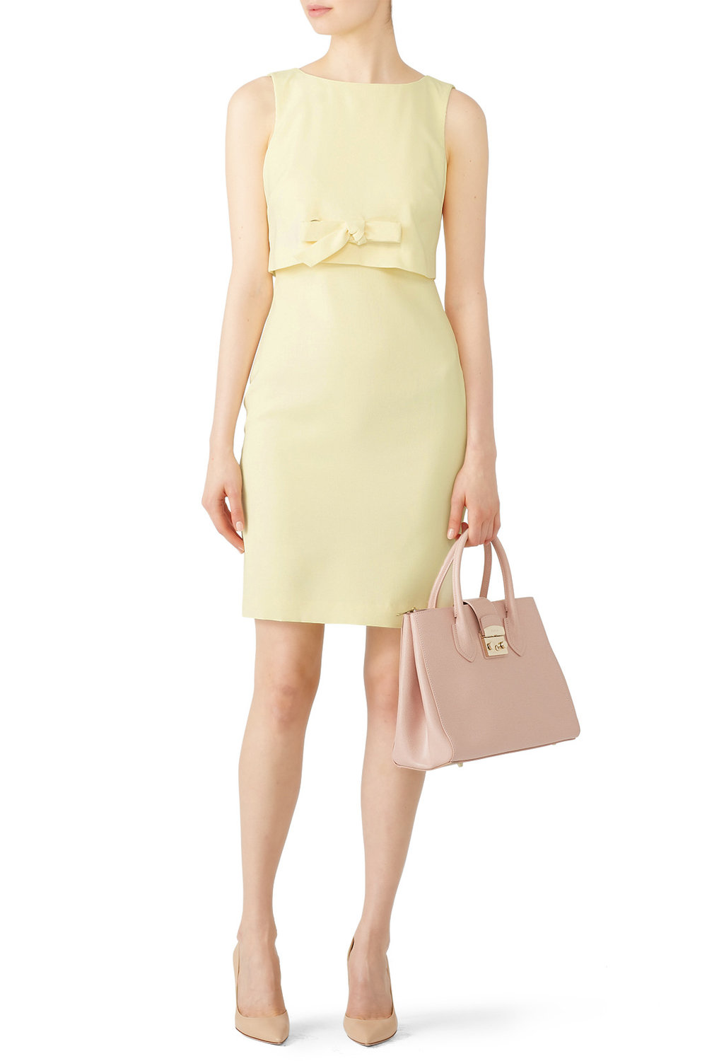 Badgley Mischka Yellow Grommet Sheath