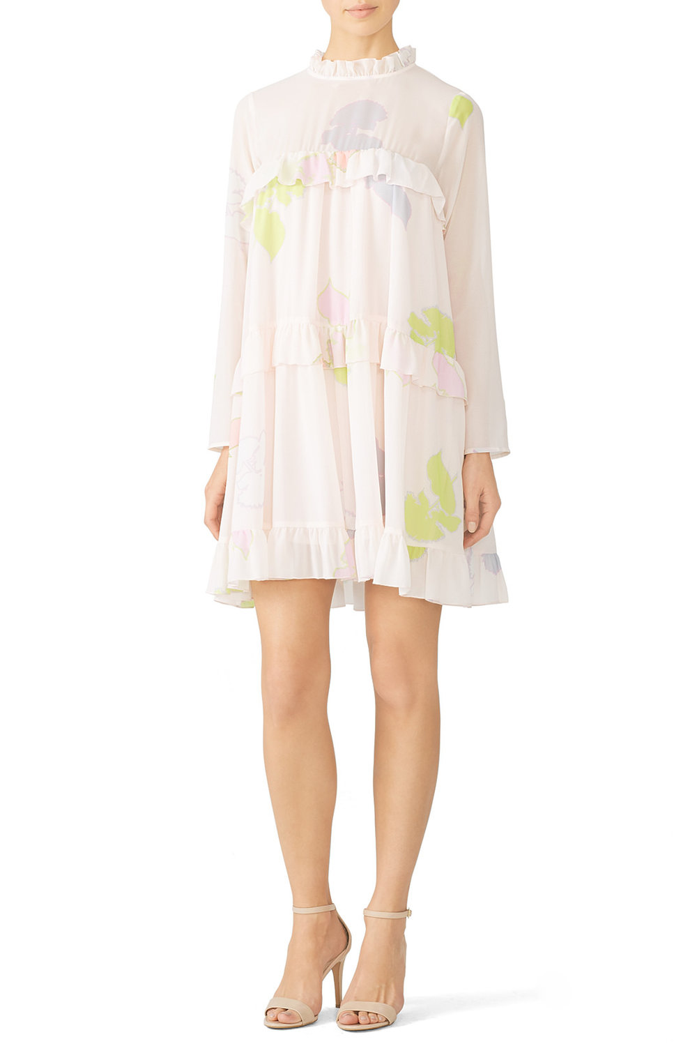 Cynthia Rowley Tiered Floral Ruffle Dress