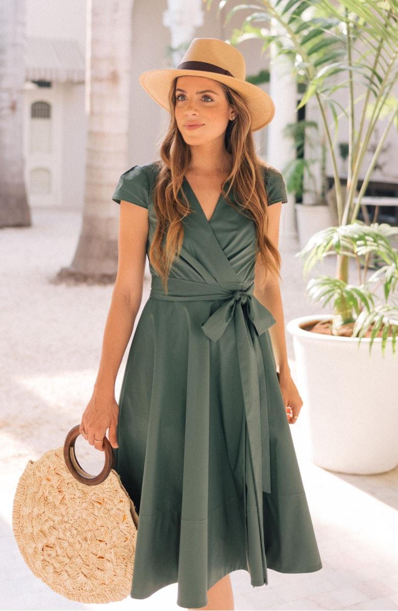 Addison Cotton Fit & Flare Dress