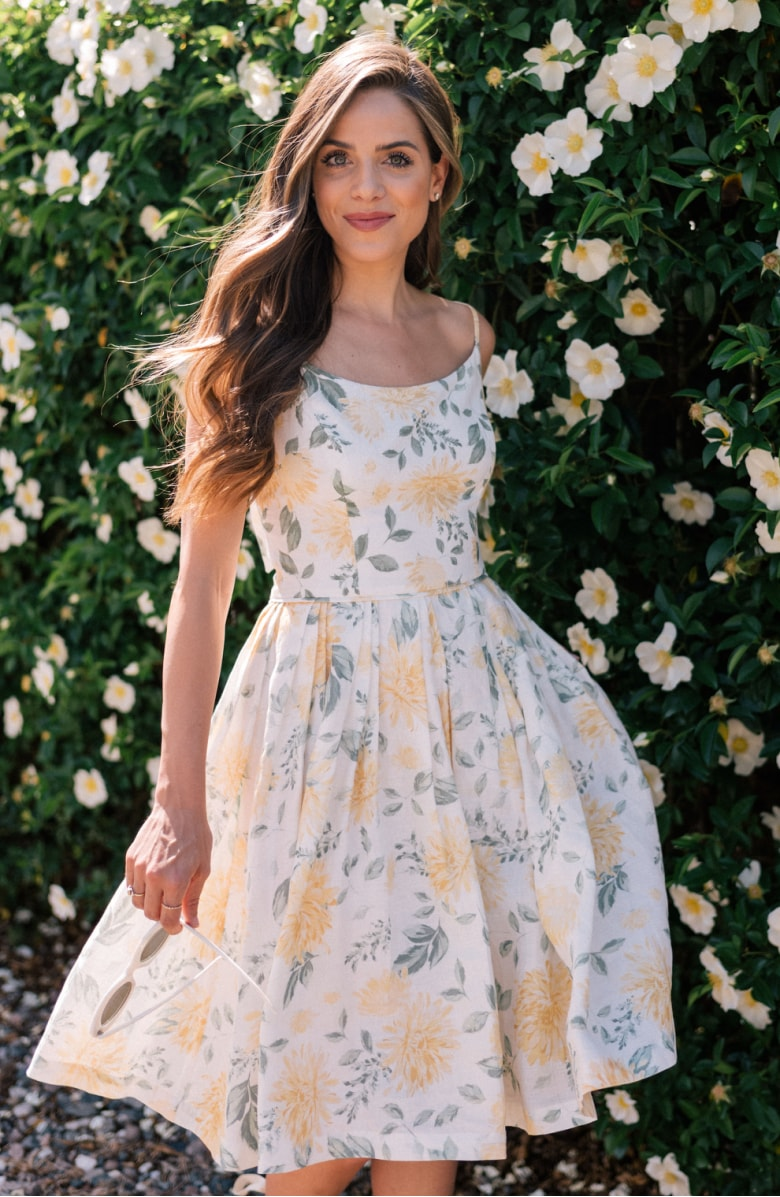 Abigail Painted Aster Fit & Flare Sundress