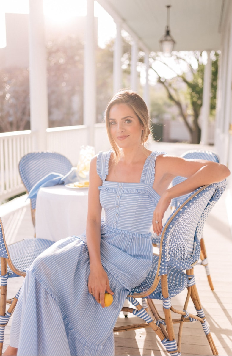 Courtney Rio Stripe Lawn Maxi Dress
