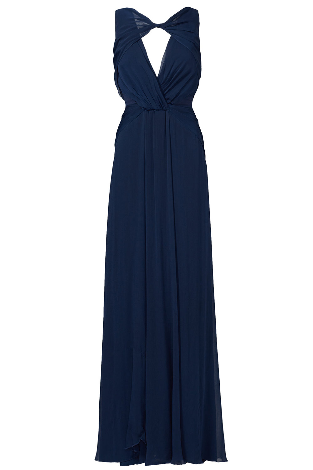 badgley mischka navy petunia gown - $95.00-$115.00