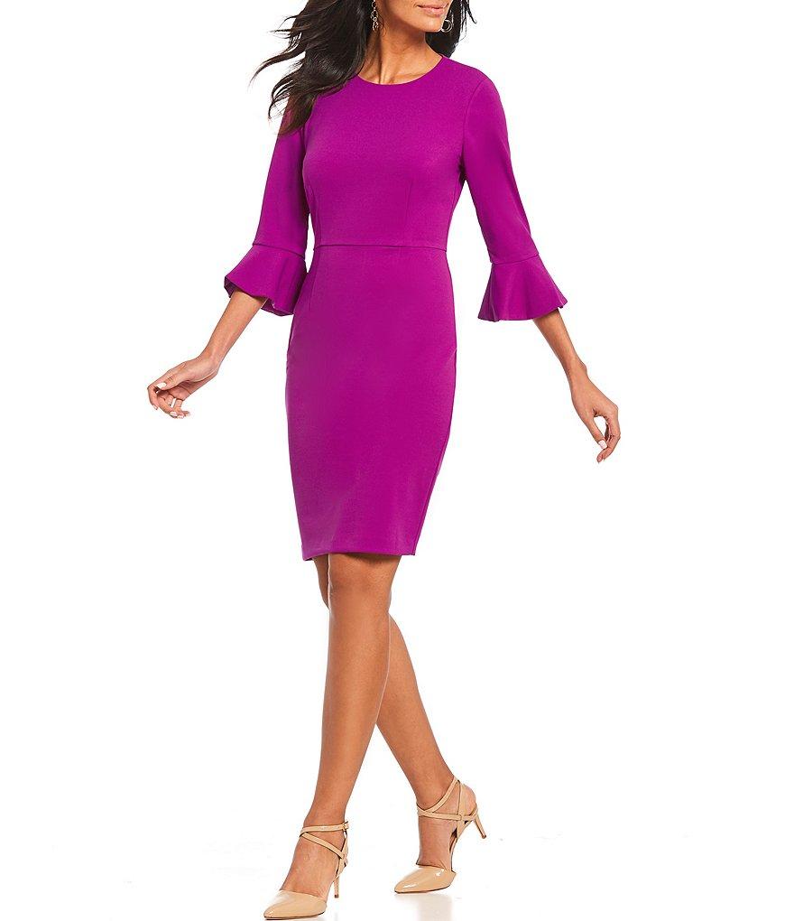 DONNA MORGAN Bell Sleeve Sheath Dress - $118.00
