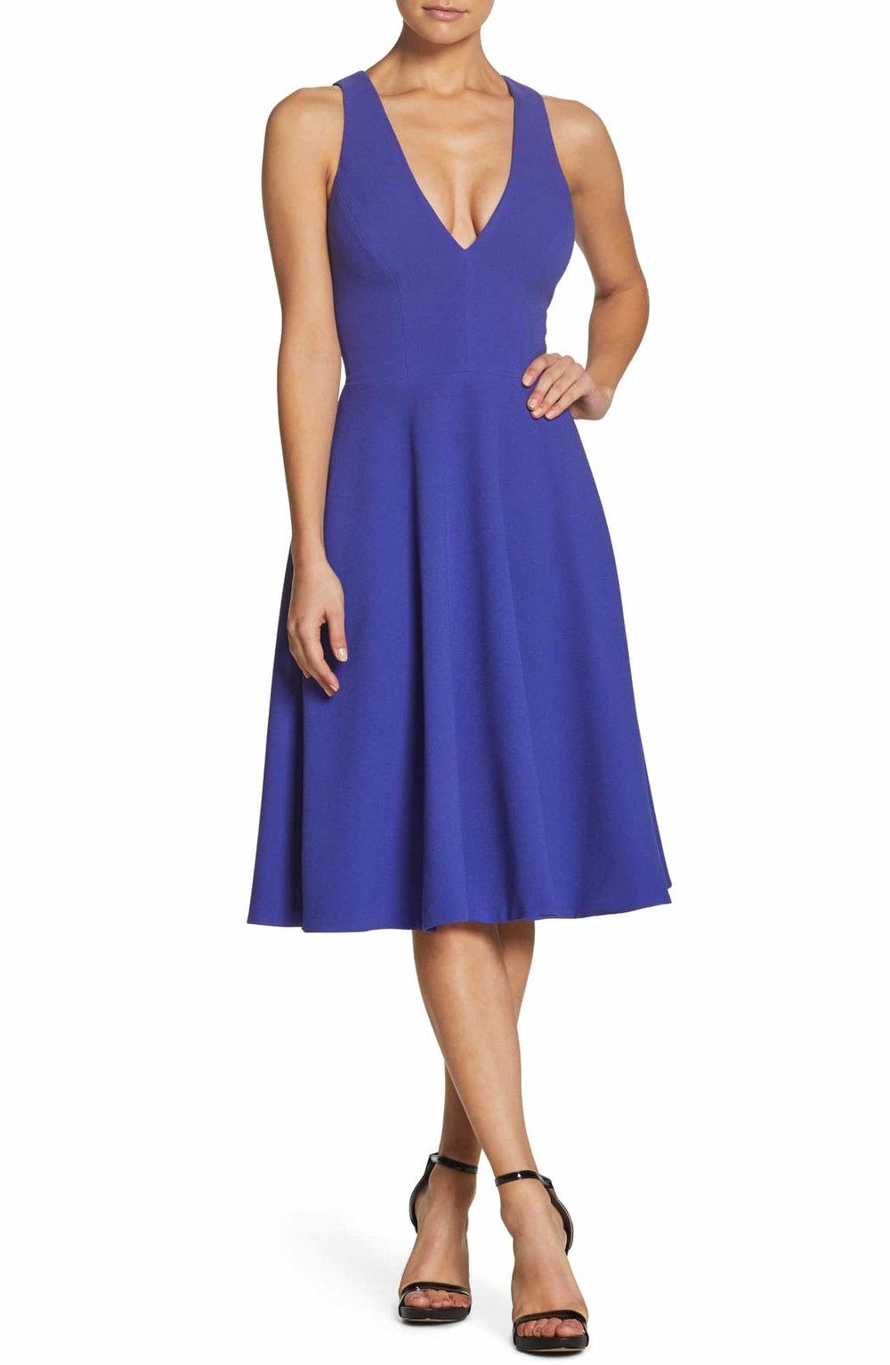 Dress The Population Catalina Tea Length Fit & Flare Dress - $182.00