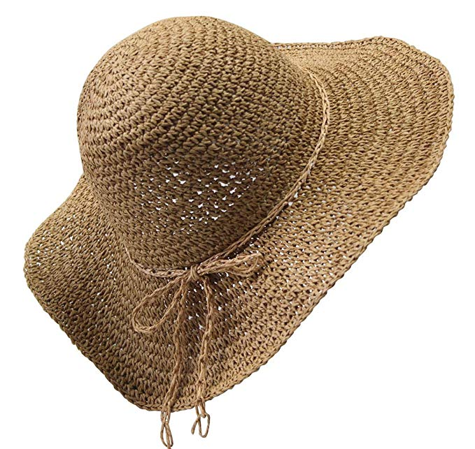 Summer Straw hat Sun hat Folding Travel Beach Cap