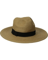 San Diego Hat Company Women's Paperbraid Fedora with Bow Band