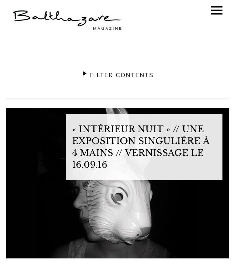 Capture @Balthazare magazine website.