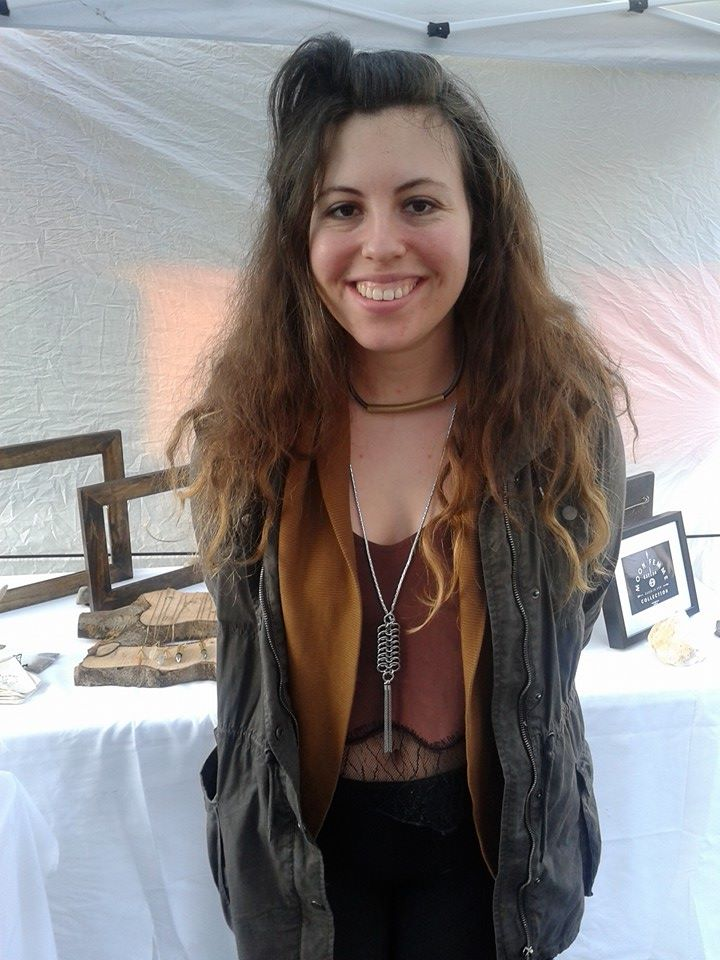 The light and bright Hallie wearing our Healing Brass and Leather Necklace.  https://www.etsy.com/listing/214180298/healing-raw-brass-gun-metal-leather?ref=shop_home_active_13