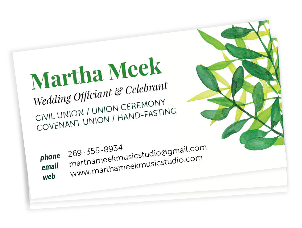 Martha Meek Business cards