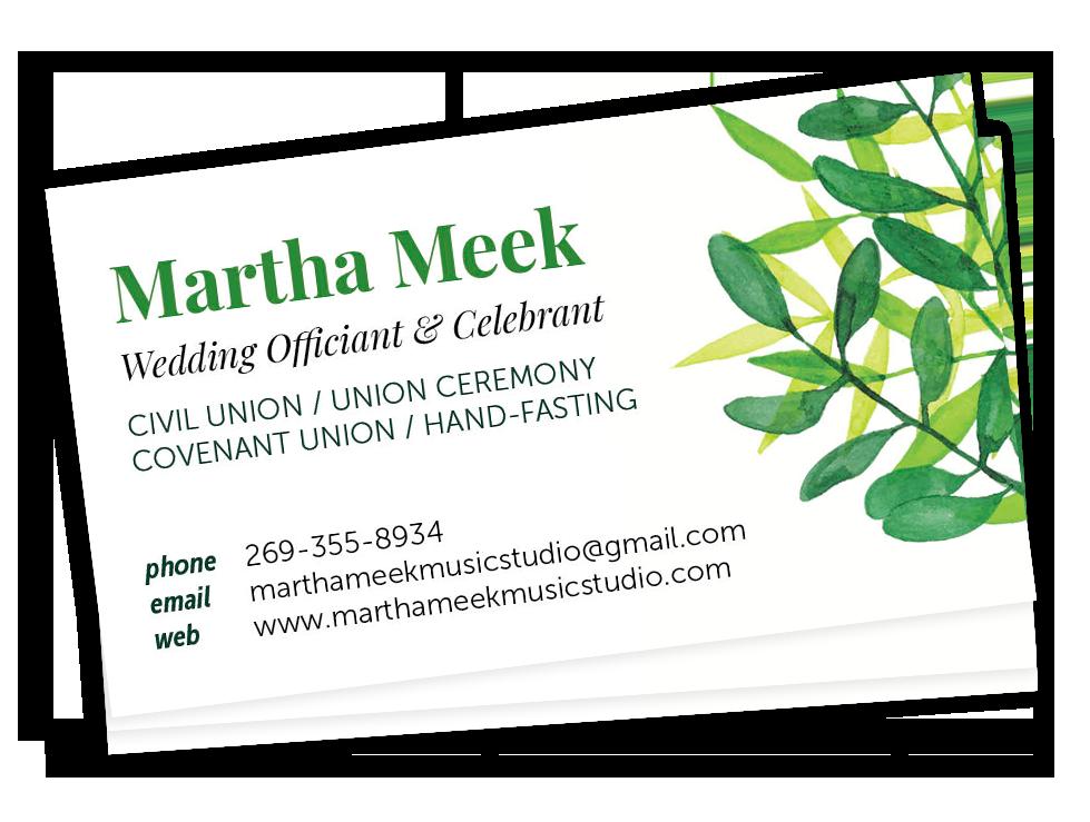 Martha Meek Business cards