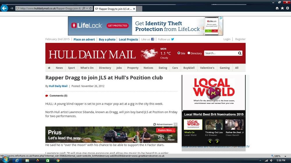DRAGG On Hull Daily Mail Dot Com