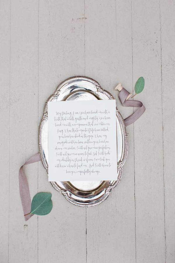 Vow Card Inspiration