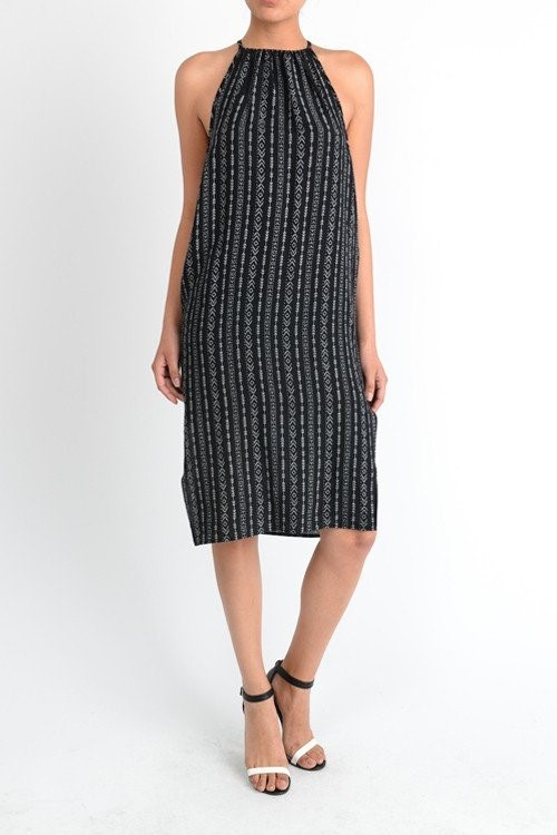 black-print-midi-tank-wedding-guest-dress