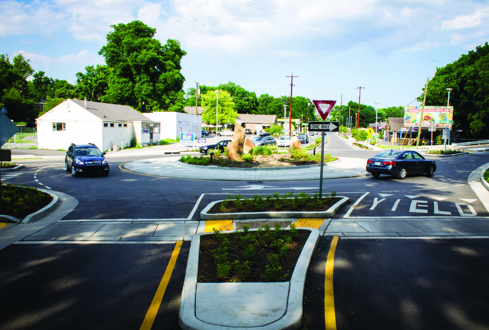 46th and Murphy roundabout designed by RPM.