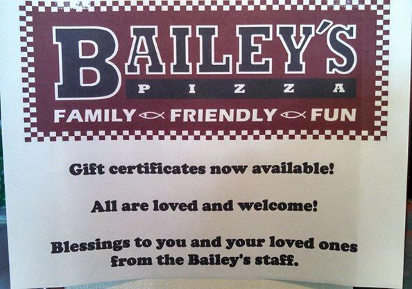 bailey's inside sign