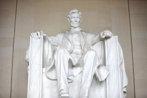 The Lincoln Monument in Washington DC.