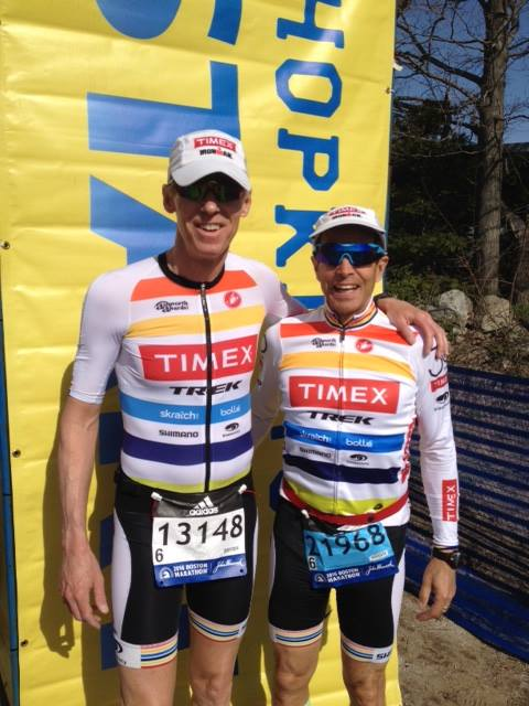 Scott and Mike at the 120th Boston Marathon