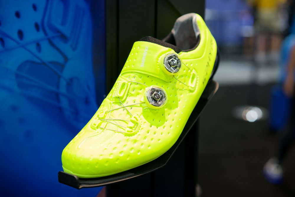 Shimano's first Boa equipped shoe, the S-PHYRE (Available in Yellow, Blue, Black, and White).