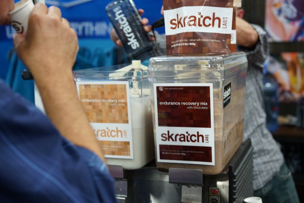 Skratch Labs' new Endurance Recovery Mix - Made with real ingredients like whole milk (No protein isolate stuff), and real flavoring from vanilla beans, chocolate, and coffee. YUM!