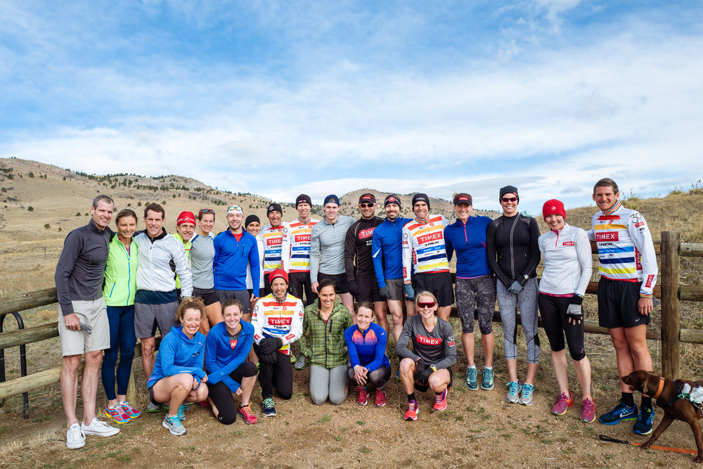 Several atheltes came out to Boulder early to either ski or get more altitude training in. The pre-camp run group before all the real fun begins.