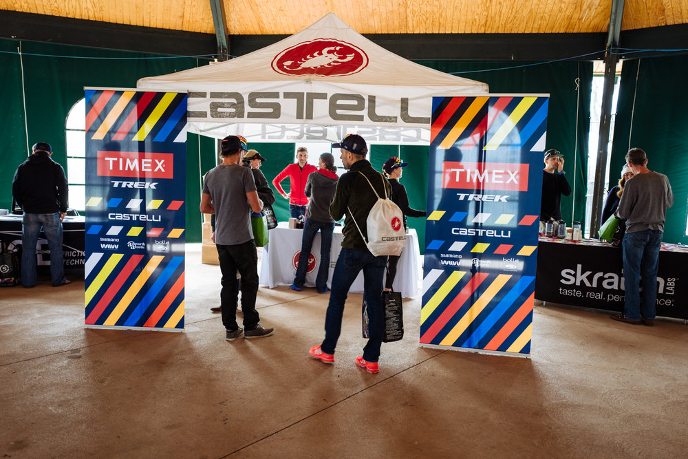 The first official day of camp kicked off with a sponsor expo where athletes picked up copious amounts of gear.