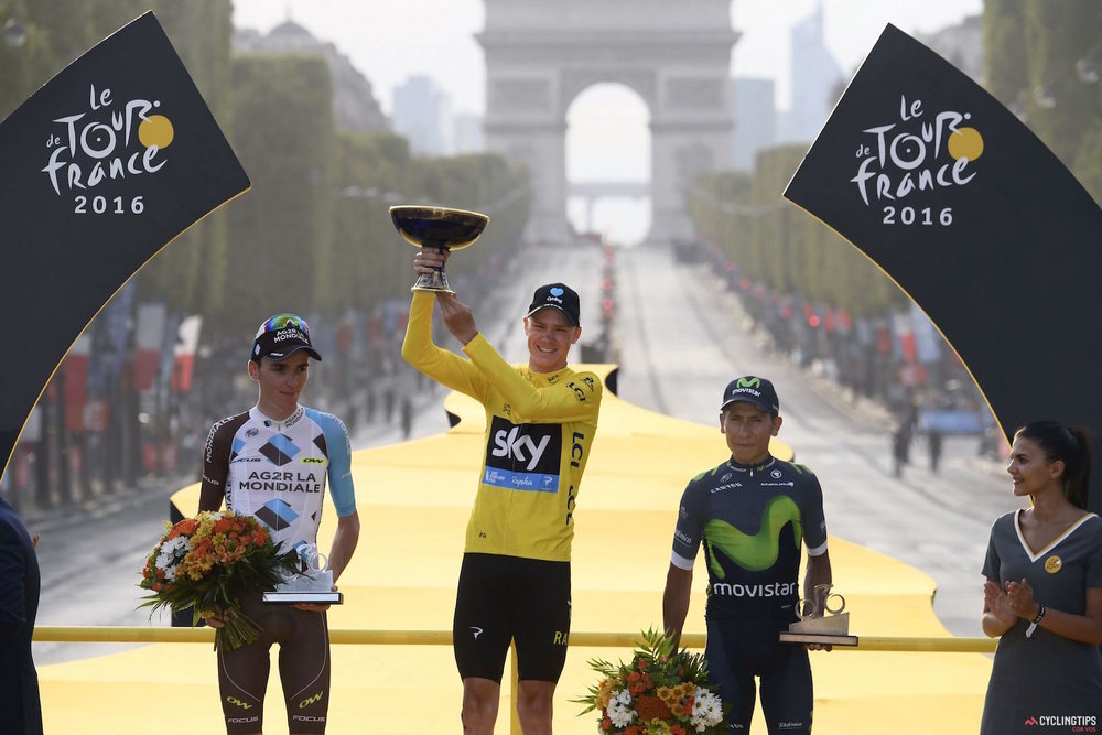 Last years podium - Froome (1), Bardet (2), and Quintana (3)