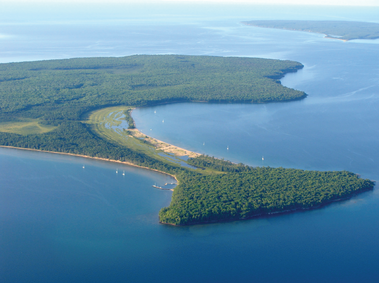 The waters of Stockton and Outer islands along with the other Apostle Islands and Chequamegon Bay are being proposed as a National Marine Sanctuary (NMS) – an area of the coastal marine or Great Lakes environment with special conservation, recreational, ecological, historical, cultural, archaeological or esthetic qualities of national significance. Photo by Barbara Coffin