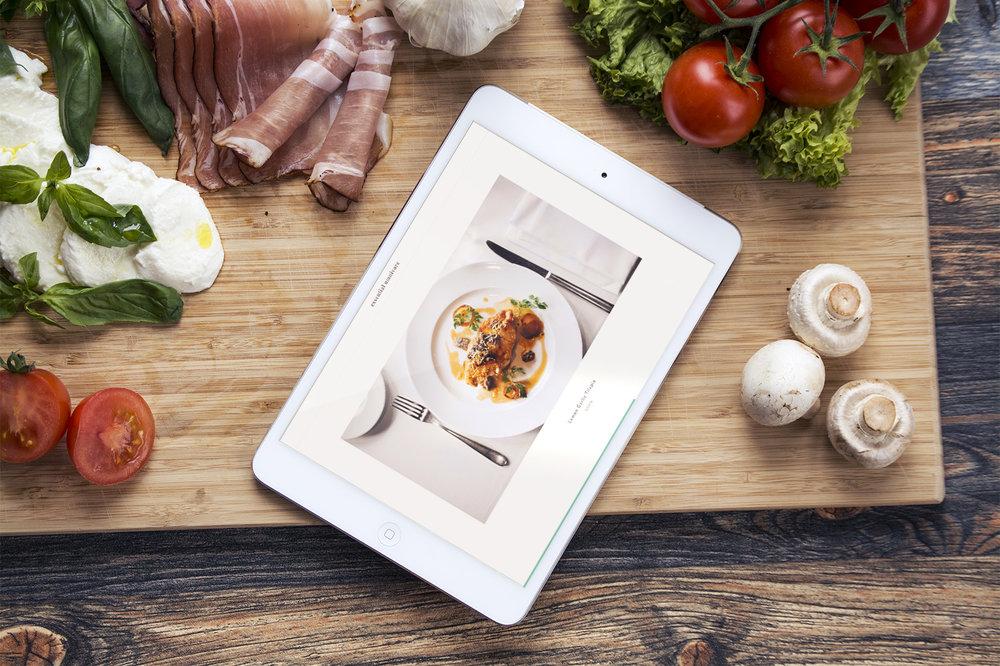 iPad nourriture restaurant