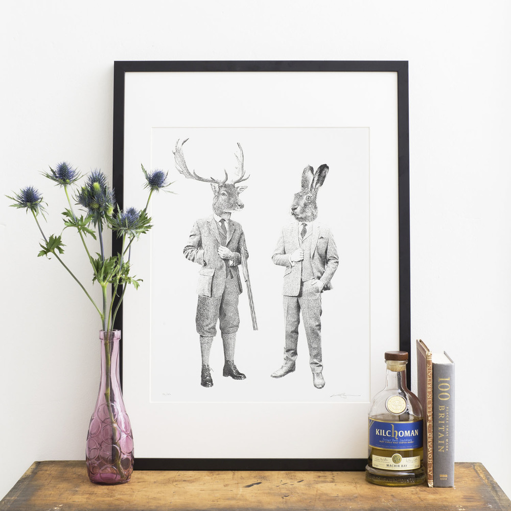 The Stag & Hare B&W