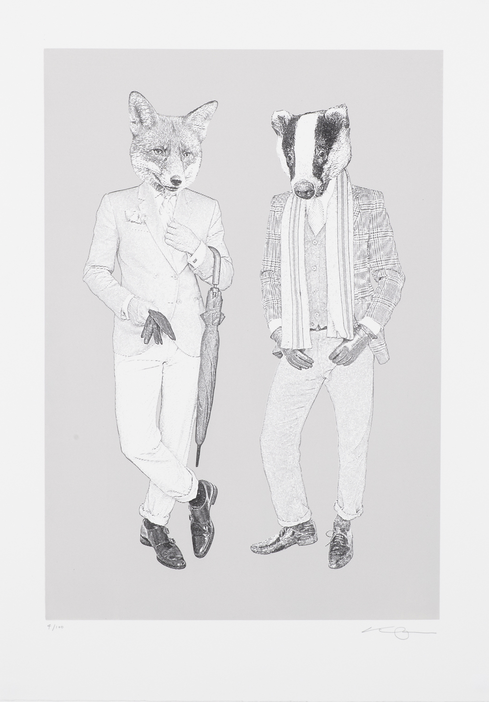 The Fox & Badger B&W