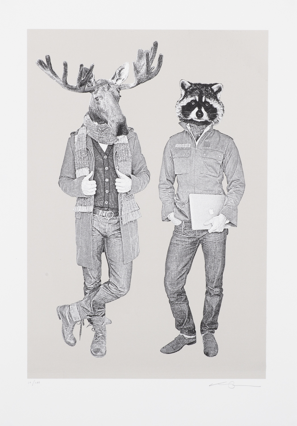 The Moose & Racoon B&W