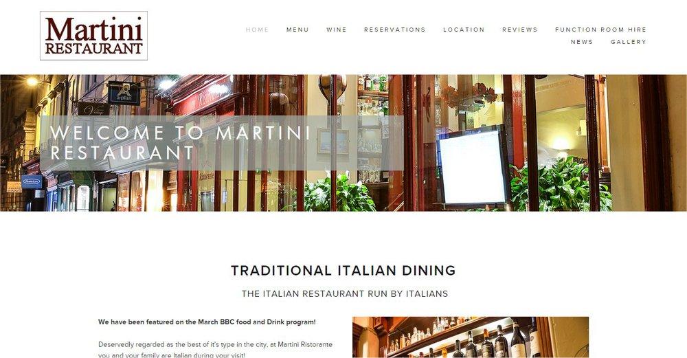 Lansdown Ventures Web Design - Martini Restaurant