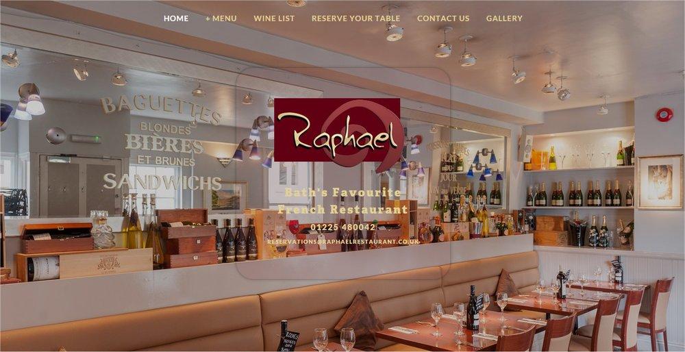 Lansdown Ventures Web Design - Raphael Restaurant
