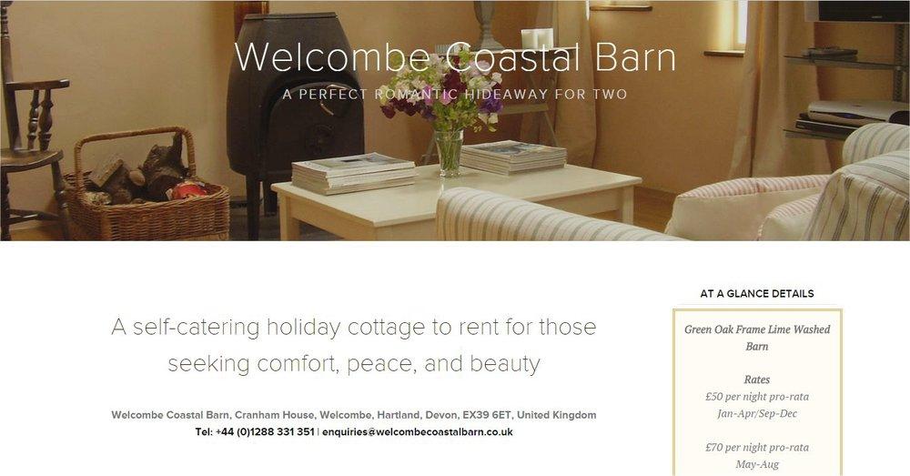 Lansdown Ventures Web Design - Welcombe Coastal Barn