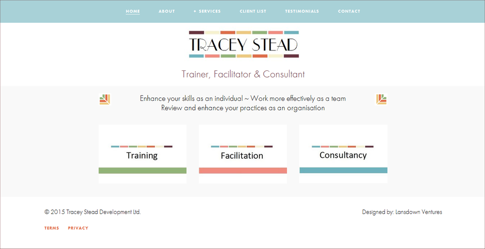 Lansdown Ventures Web Design - Tracey Stead Consultant