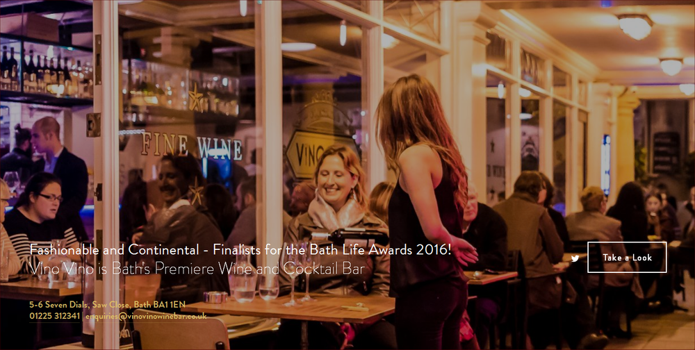 Lansdown Ventures Web Design - Vino Vino Wine & Cocktail Bar