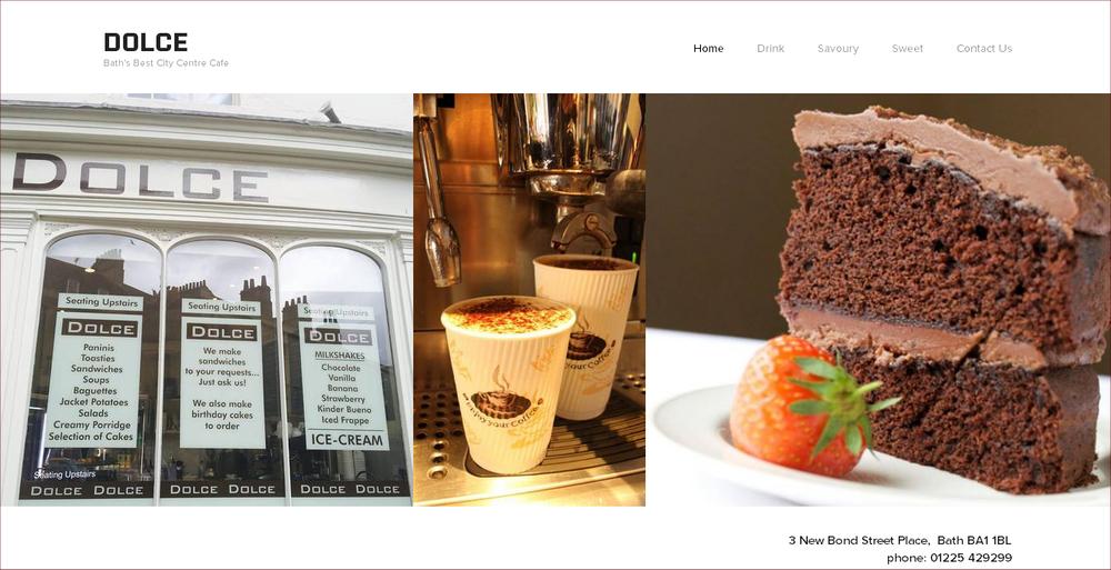 Lansdown Ventures Web Design - Dolce Cafe