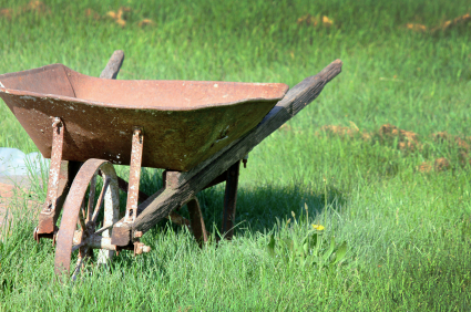 Old Rustic Wheelbarrow