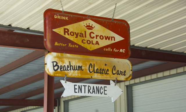 Beachum Classic Cars Sign