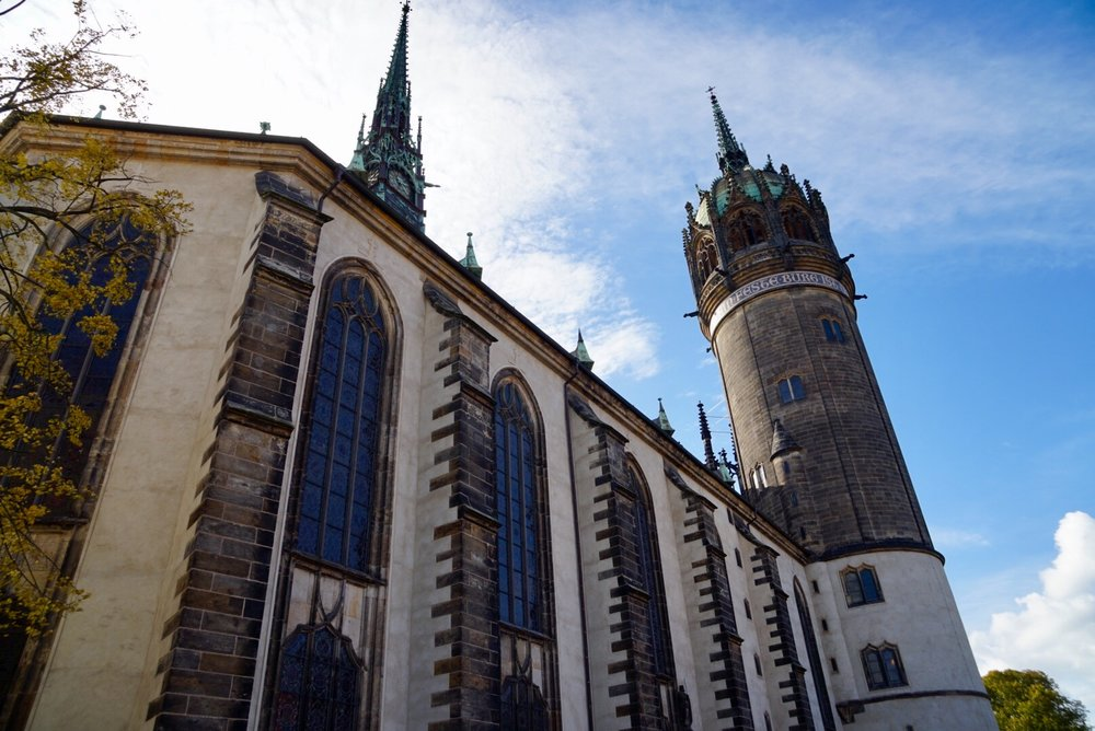 Castle Church in Wittenberg, Saxony Germany
