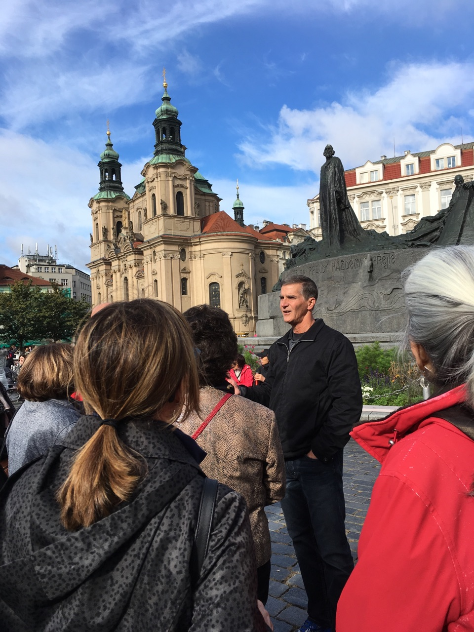 Talking about the life of John Huss in front of the Huss Monument in Prague. Pictures below from Bethlehem Chapel just a short distance from the monument.