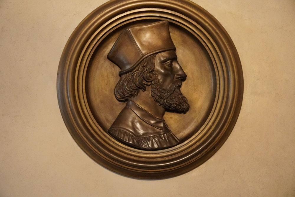 Bronze engraving of Huss