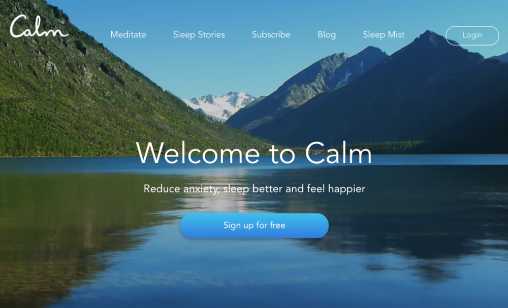 Calm - Apple picked Calm as its App of the Year for so many reasons, but mostly because it delivers on its promise. Click here to visit their website. Or download the app and see for yourself.