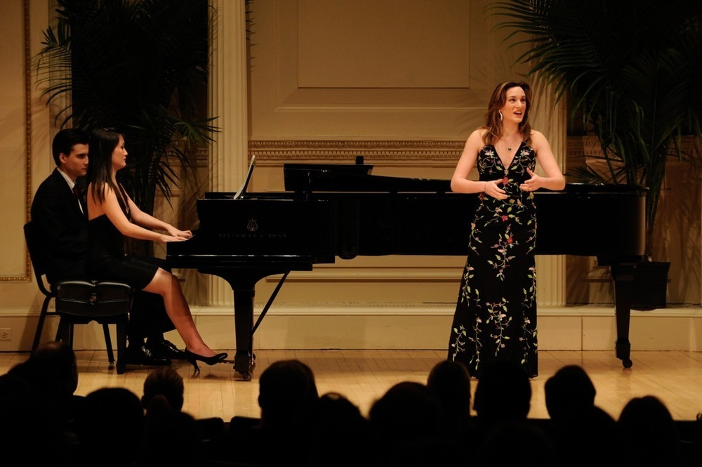 With pianist Jing Yang at Carnegie Hall's Weill Hall - Photo by Sun Ming Guo