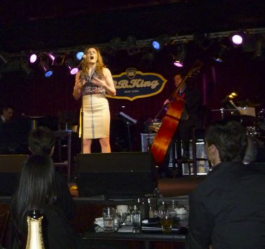 With pianist Mark Nadler at B.B. King's Blues Club - Photo by Lorna Drake Giles