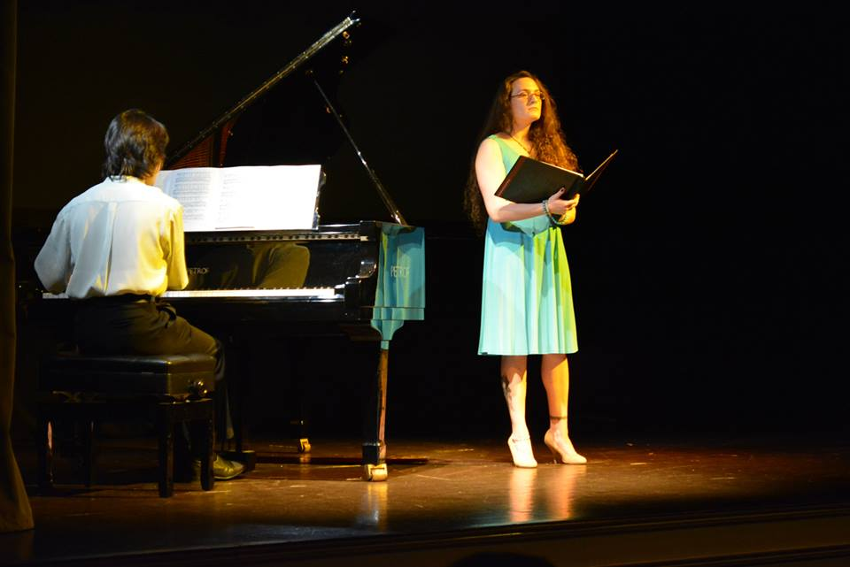 At Bohemian National Hall with pianist Oliver Markson - Photo by Sasha Santiago