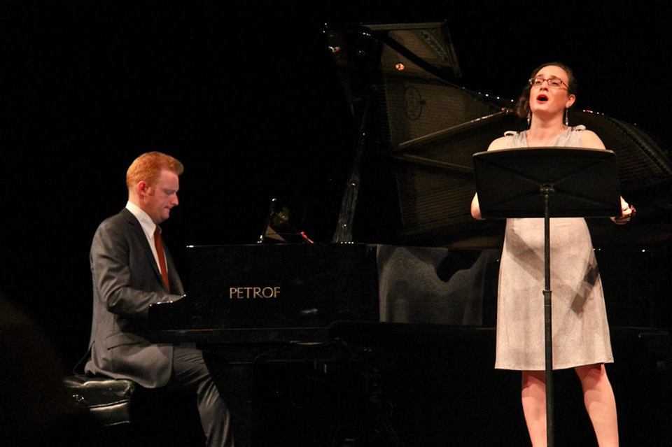 At Bohemian National Hall with pianist Steve Beck - Photo by Sasha Santiago