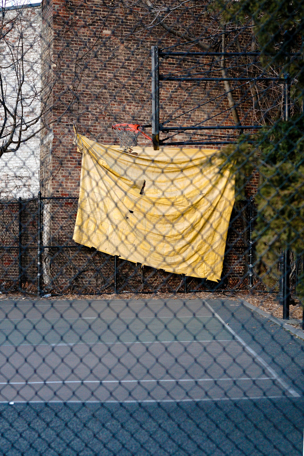 Yellow Tarp, NYC, 2017